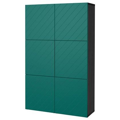 Tủ BESTA lưu trữ kết hợp cửa Xanh lá đậm, nâu-đen